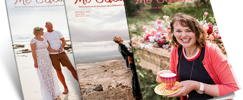 The Celebrant magazine covers